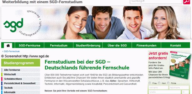 Fernstudium mit der SGD – Studienangebote, Ablauf, Dauer, Kosten und mögliche Abschlüsse